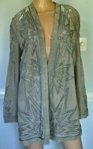 Ralph Lauren Purple Label Collection Embroidered Leather Dress Runway Jacket 12