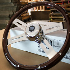"18"" Classic Steering Wheel Dark Wood with Traditional Horn Freightliner 96-06"