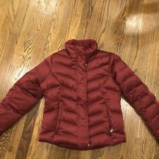 Eddie Bauer Womens Puffer winter Coat Jacket PXS P XS Red EB550 Goose down fill