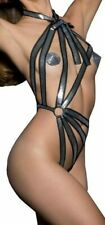 Agent Provocateur silver playsuit S M L new stretch open body