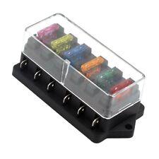 6 WAY FUSE HOLDER BOX CAR VEHICLE CIRCUIT BLADE FUSE BOX BLOCK + FREE FUSE US