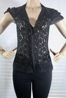 $ Women's Bcbg max azria Lace Super stretch Tops blouse SZ S black