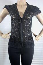 $ Bcbg max azria Tops Women's blouse Lace Super stretch SZ S black