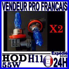 2 Ampoules Effet Xenon H11 8000K 55W 12V HOD anti brouillard super white plasma