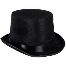 Fancy Dress Burlesque Dance Magician Stag Black Top Hat Topper Deluxe