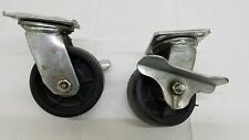"""RWM 5"""" Swivel Plate Caster With Brake set of 2"""