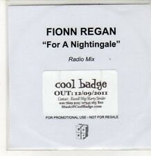 (DD749) Fionn Regan, For A Nightingale - 2011 DJ CD