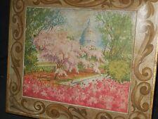 "Vintage Tin Sunshine Biscuit Capital W/Cherry Trees 12"" x 11"" x 3"""