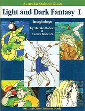 Aanraku Light and Dark Fantasy 1 Stained Glass Book, Unicorn, Mermaid, Pegasus,