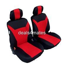Peugeot 207 307 308 3008 508 208 HOUSSES de Siège Tissu avant Rouge-Noir