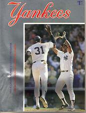 1983 New York Yankees vs Boston Red Sox Program Score Book Magazine Winfield