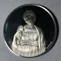 Leah, The Genius of Michelangelo 1.26oz Sterling Silver Medal