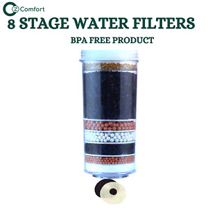 Aimex Water Filter Charcoal Activated BPA Free 8 Stage Water Filter Cartridge