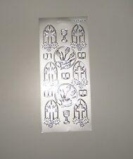 Sticker silber christliche Symbole Konfirmation Kommunion Ziersticker Aufkleber