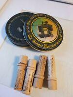 """Vintage Singer Manufacturing Co Sewing Machine  7"""" Tin Tray w/ Bonus Vtg Needles"""