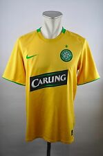 Celtic Glasgow Trikot Gr. M Jersey Nike 2008/09 Away gelb Carling Scotland
