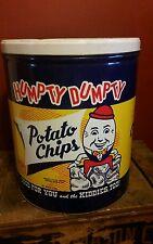 Antique Vintage Humpty Dumpty potato chips tin Portland, ME. ~NICE SHAPE
