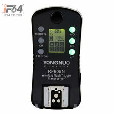 1x Yongnuo Wireless Flash Trigger RF-605 LCD for Nikon D5200 D3100 D3000 D90 D80