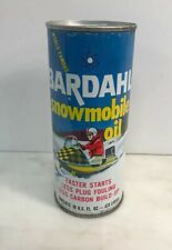 VINTAGE OIL CAN  BARDAHL SNOWMOBILE OIL CAN FULL UNOPENED GREAT GRAPHICS