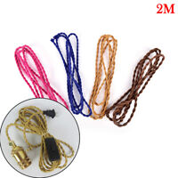 2M Retro Braided Fabric Light Cable Electric Wire Chandelier Pendant Lamp  NT
