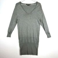 BCBG Max Azria Silk Knit Blend Cocoon Sweater Dress Small V Neck Long Sleeves