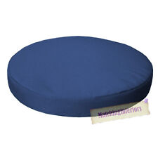 "Blue 15"" Circular Round Water Resistant Garden Chair Dining Bistro Pad Cushion"