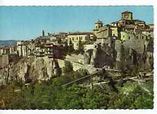 Postal Cuenca, Casas colgadas y vista parcial.