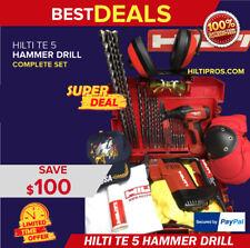 Hilti Te 5 Rotary Drill Preowned Free Hilti Sid 2 A Bits Extras Quick Ship