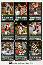 2009 AFL Teamcoach Trading Card Prize Team Set Collingwood (11)