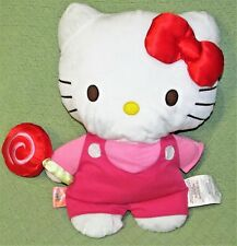 "17"" HELLO KITTY Plush SANRIO Stuffed Cat with LOLLIPOP 2013 Red Bow Pink Pants"
