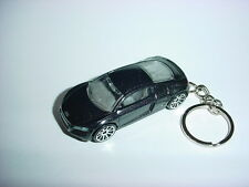 NEW 3D MIDNIGHT BLACK AUDI R8 CUSTOM KEYCHAIN keyring key AWD SPEED BLING!