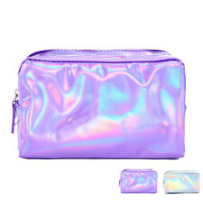 Large Makeup Bag Travel Pouch Pen Pencil Cosmetic Organizer School Desk w/Zipper