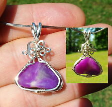Translucent Gel Sugilite Royal Lavulite Psychic Abilities Sterling Reiki Pendant
