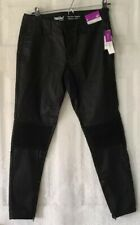 NWT $30  Mid Rise Jeggings Mossimo Denim Black Size 4 Small Stretch