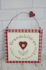 Wall Plaque Grandchildren Life's Most Precious Gifts Wooden Sign 21cm F0540C