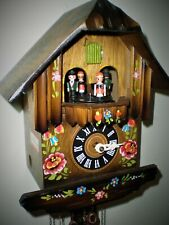 New ListingMusical Cuckoo Clock by Albert Schwab, 2 tune, Hand Painted in the Black Forest