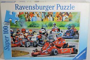 RAVENSBURGER PUZZLE GO-CART RACES SUPER 100 PIECES 108190 1999 GERMANY COMPLETE