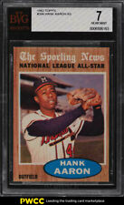 1962 Topps Hank Aaron ALL-STAR #394 BVG 7 NRMT