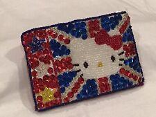 "🇬🇧 Vintage 2001 Hello Kitty Sanrio UNION JACK ""3 X 5""Coin Purse Wallet British"