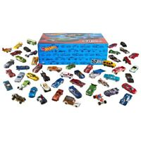 Hot Wheels 50 Diecast Car Pack and Mini Toy Cars