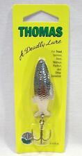 Thomas Fighting Fish 3/8 oz Nickel Spinning Fishing Lure Spinner Spoons