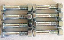 M16 x 90 Bolts and Nuts (x8) Zinc Plated 4.6 Bolt & Nuts 16mm x 90mm