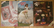 Lot of 3 Annie's Attic Needlework Older OOP Catalogs #23 #32 #45
