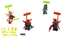 LEGO NINJAGO all 4 Mini figures from Ninja Tuner Car 71710 with accessories