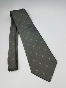 Polo Ralph Lauren Polyester Tie Gray Geometric 56 x 3.7/8
