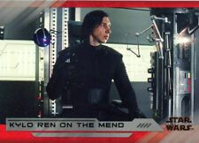Star Wars Last Jedi S2 Silver [25] Base Card #37 Kylo Ren on the Mend