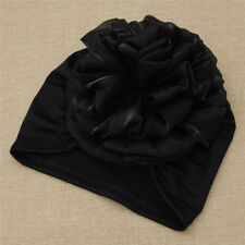 Women's Hair Head Scarf Turban Cap Muslim Cancer Chemo Hat Cover With Flower