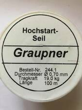 GRAUPNER 244.1 TOWLINE 100 METERS 0.70MM STRENGHT 19KG -R/C AIRCRAFT