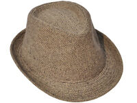 Men Women Unisex Classic Upturn Short Brim Fedora Hat Cuban Trilby Panama Cap