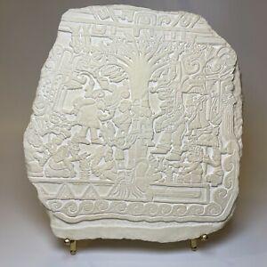 Book of Mormon Sculpture Art Tree of Life Izapa Stela 5 Lehi Stone Cast Marble